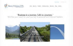 Henry Jones accountancy firm new website