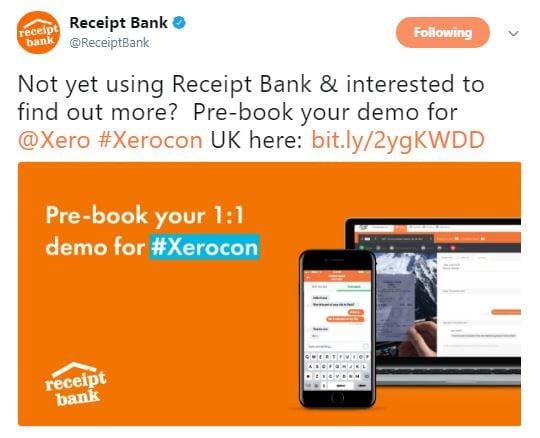 Receipt Bank xerocon swag