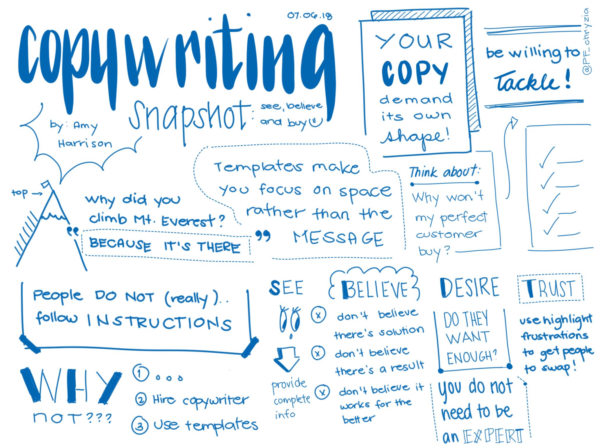 Copywriting sketch note