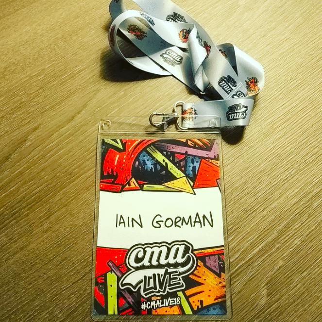 Iain Gorman CMA badge