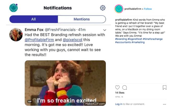 Instagram testimonials