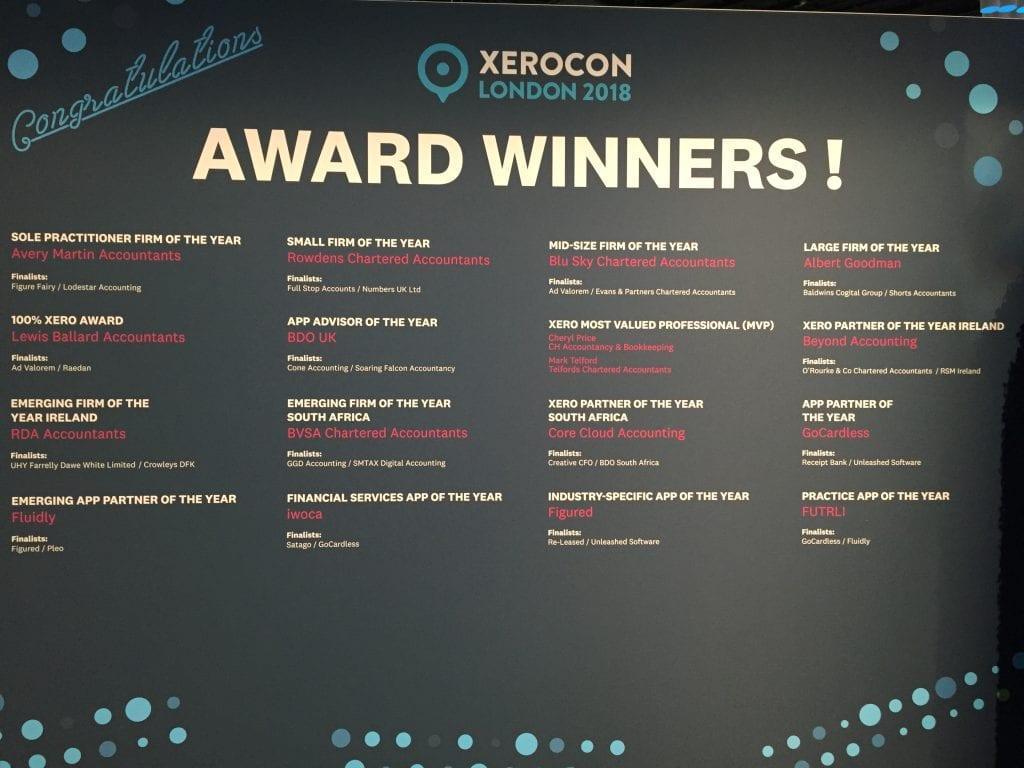 Xero award winners