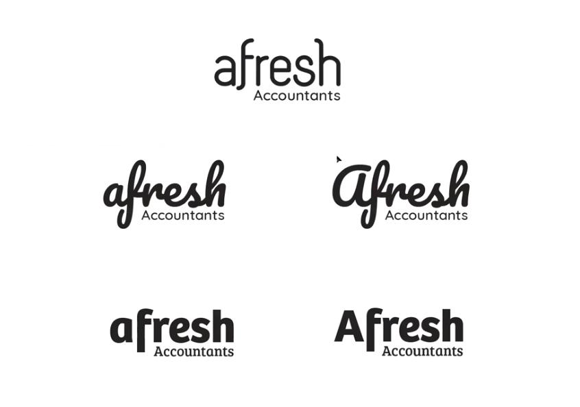 Afresh logo concept 3
