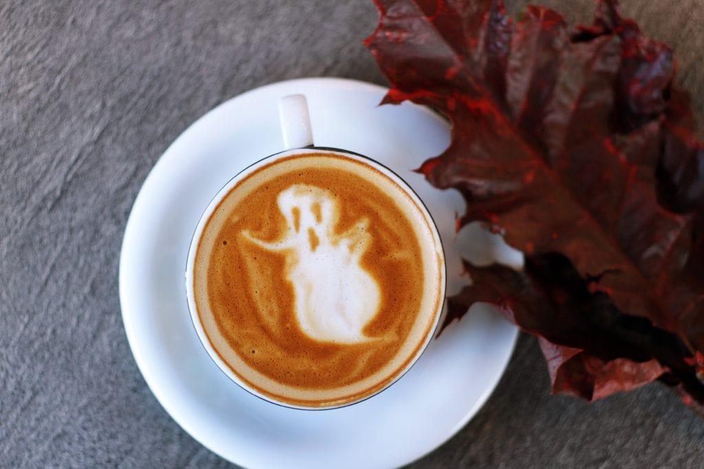 ghost coffee art