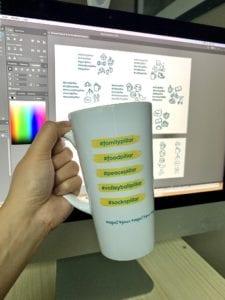 PF branded pillars mug