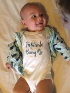 PF branded babygrow