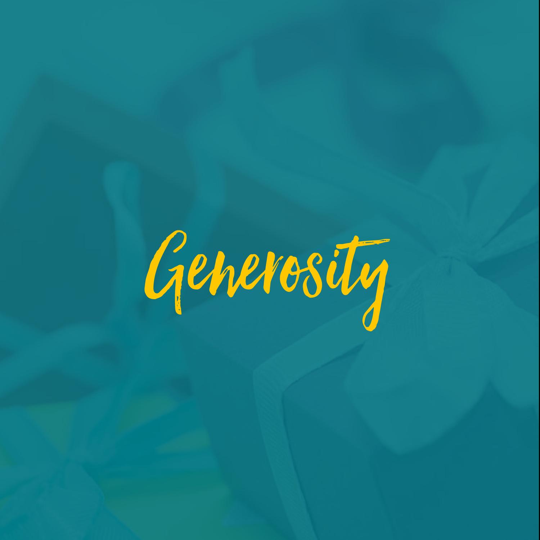 #generositypillar
