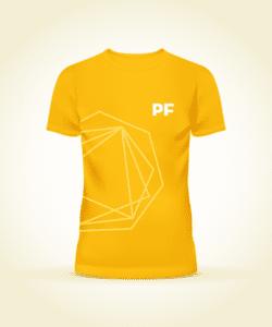 pf yellow branded tshirt